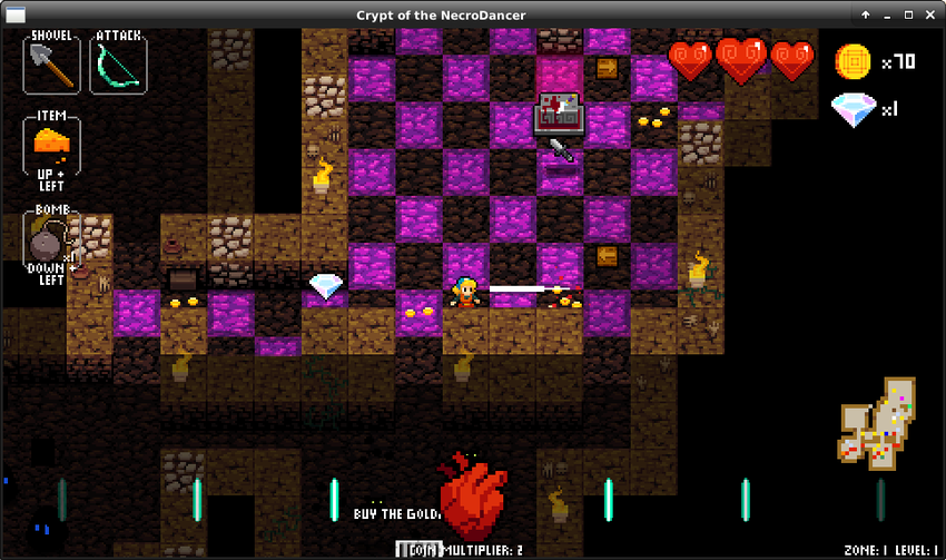 Action screenshot of Crypt of the Necrodancer